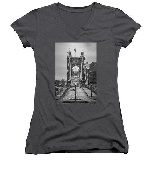 Roebling Bridge Women's V-Neck T-Shirt