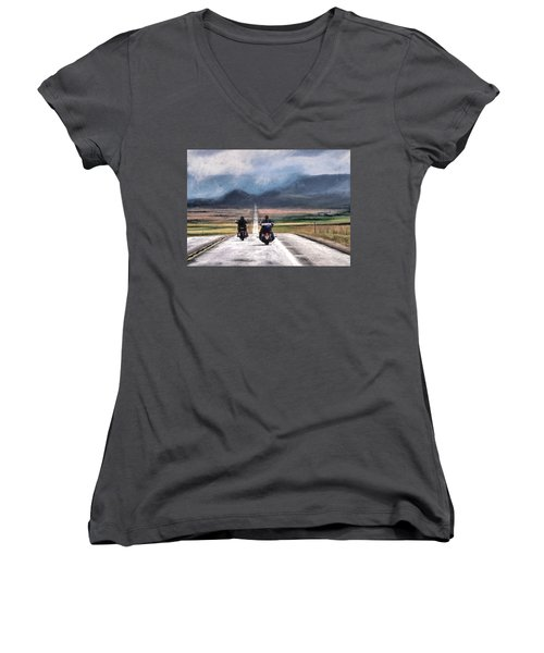 Roll Me Away Women's V-Neck (Athletic Fit)