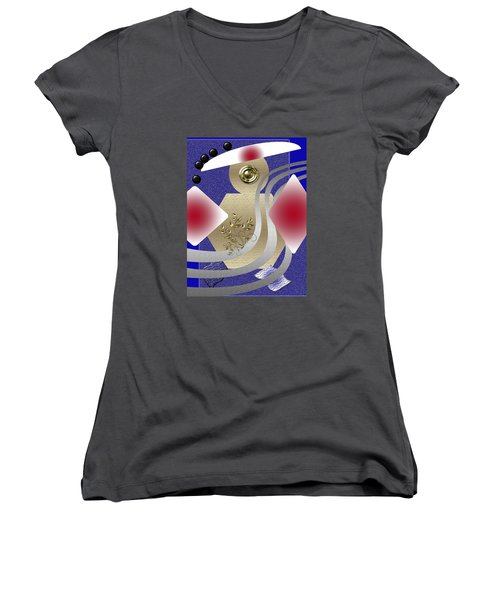 Rolling Down Women's V-Neck T-Shirt (Junior Cut) by Tina M Wenger