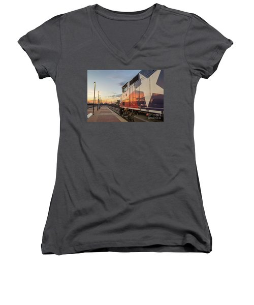 Rolling Into The Sunset Women's V-Neck