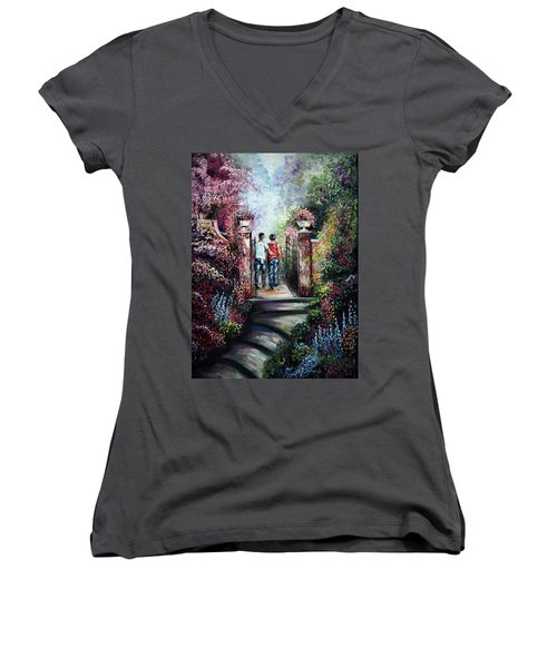 Romantic Landscape Women's V-Neck