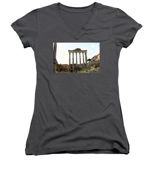Rome The Eternal City Women's V-Neck