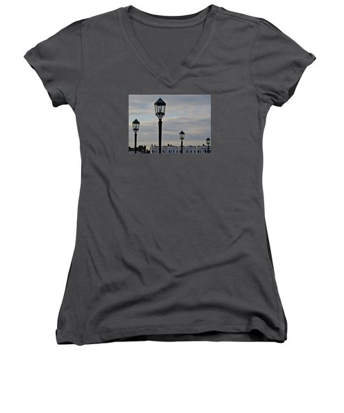 Roof Lights Women's V-Neck T-Shirt (Junior Cut) by John Topman