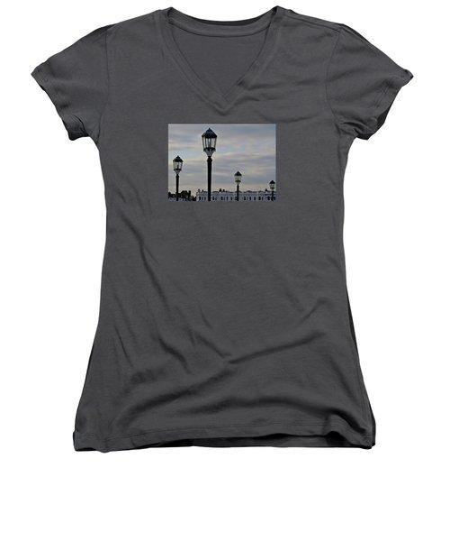 Roof Lights Women's V-Neck T-Shirt