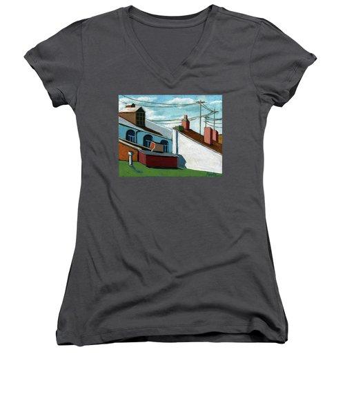 Rooftops Women's V-Neck T-Shirt (Junior Cut)