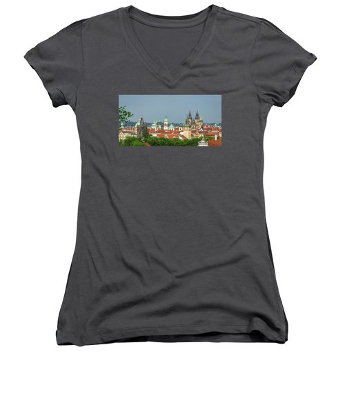 Rooftops Women's V-Neck (Athletic Fit)