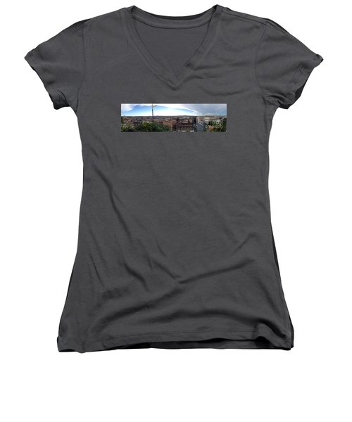 Rooftops Of Rome Women's V-Neck