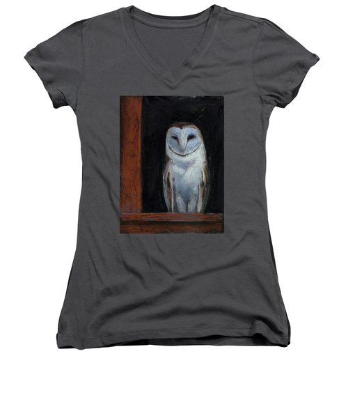 Room With A View Women's V-Neck T-Shirt (Junior Cut) by Billie Colson