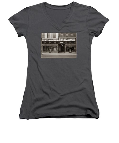 Rooney's Restaurant Wilkes Barre Pa 1940s Women's V-Neck (Athletic Fit)