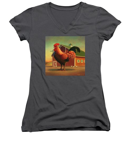 Rooster And The Barn Women's V-Neck