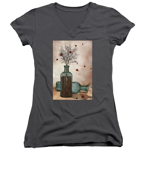 Rooted Women's V-Neck T-Shirt
