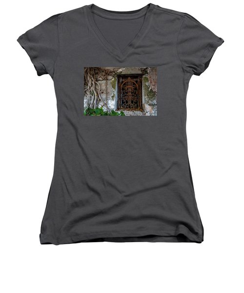 Roots And Rust Women's V-Neck (Athletic Fit)