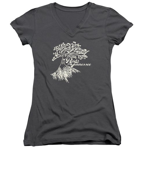 Roots In Tennessee Women's V-Neck (Athletic Fit)
