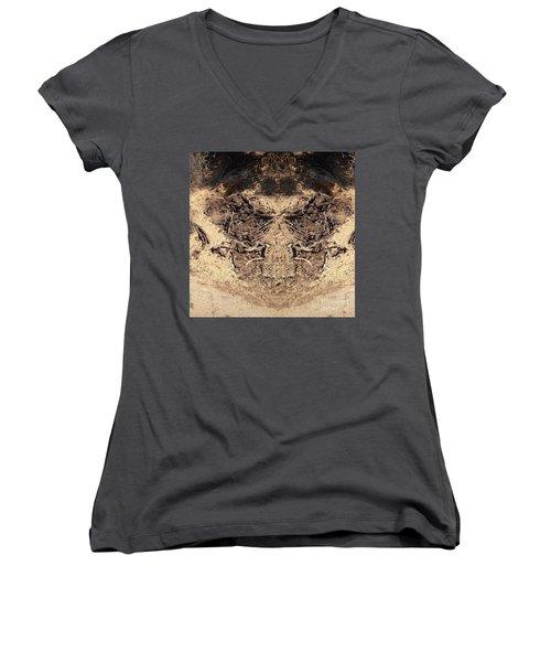 Roots Women's V-Neck T-Shirt (Junior Cut) by Nora Boghossian