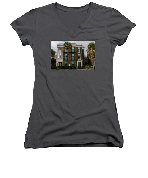 Roper Mansion In December Women's V-Neck (Athletic Fit)