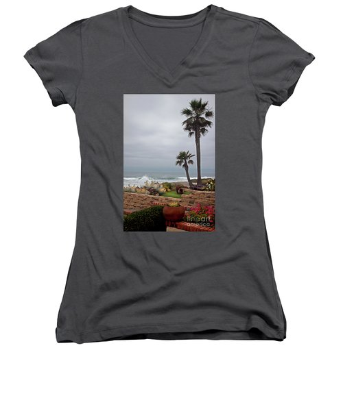 Women's V-Neck T-Shirt (Junior Cut) featuring the photograph Rosarito Beach by Ivete Basso Photography