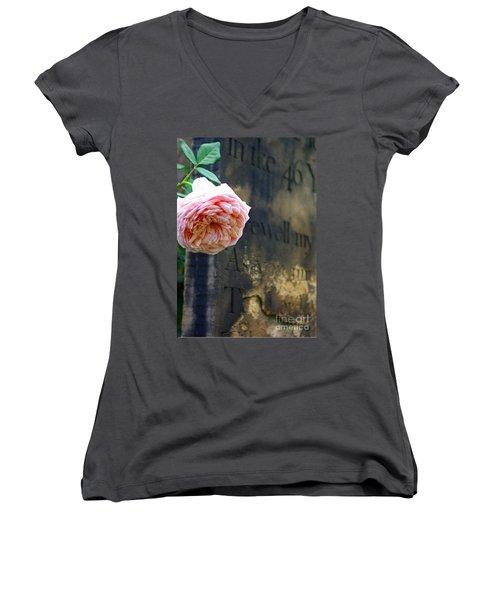 Rose At The Grave Women's V-Neck T-Shirt