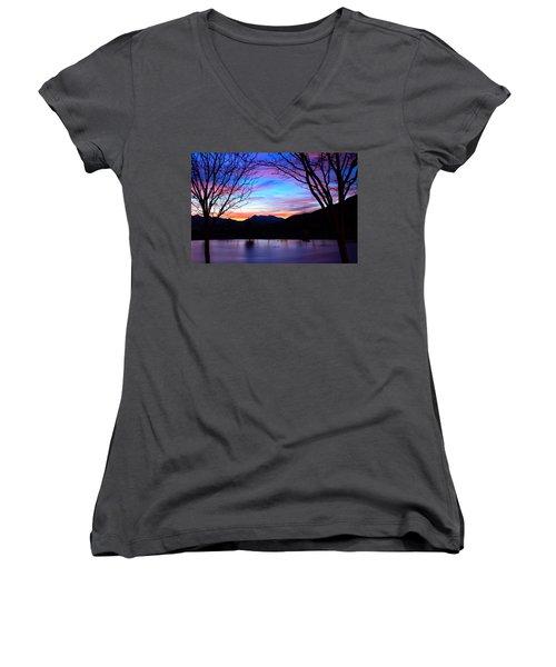 Rose Canyon Women's V-Neck T-Shirt (Junior Cut)