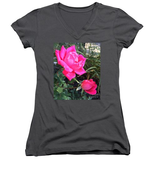 Rose Duet Women's V-Neck
