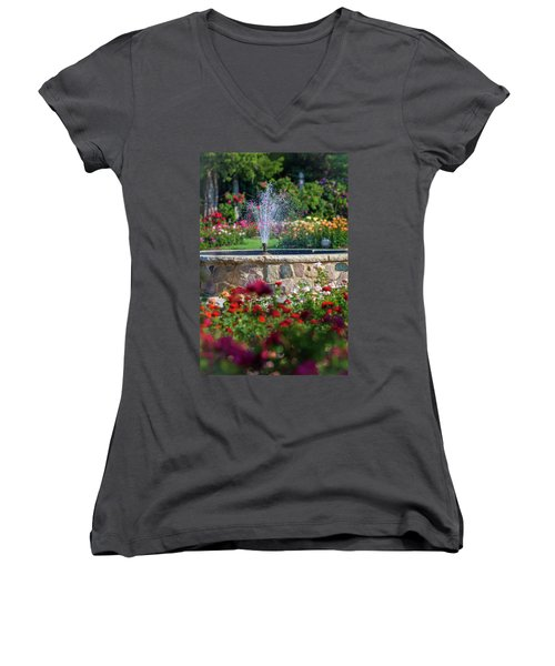 Rose Fountain Women's V-Neck (Athletic Fit)