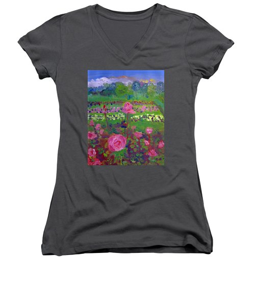 Rose Gardens In Minneapolis Women's V-Neck T-Shirt