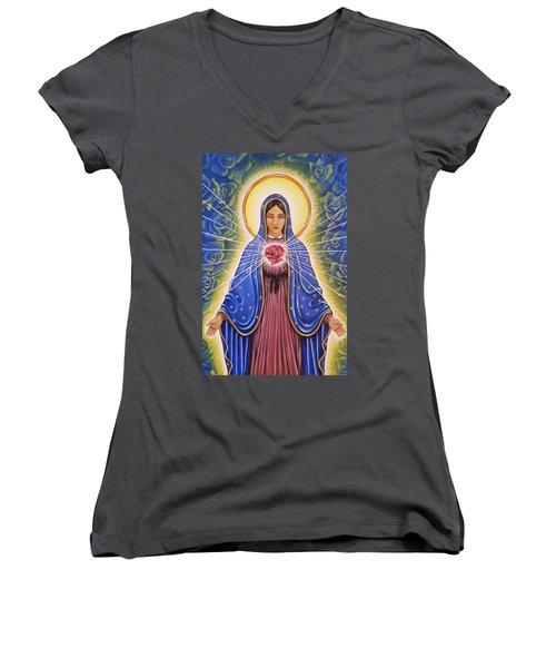 Rose Heart Women's V-Neck T-Shirt