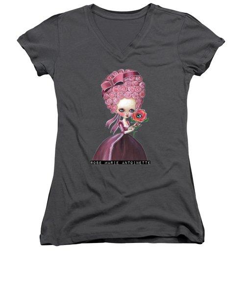 Rose Marie Antoinette Women's V-Neck (Athletic Fit)