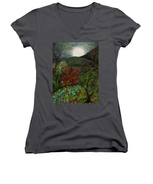 Rose Moon Women's V-Neck