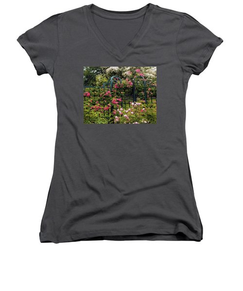 Rose Trellis Women's V-Neck