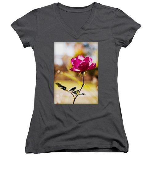 Rosebud Women's V-Neck