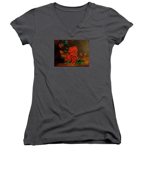 Roses Are Red Women's V-Neck T-Shirt