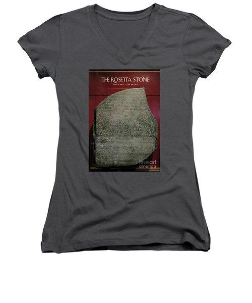 Rosetta Stone Replica Women's V-Neck