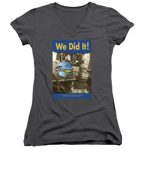 Rosie The Riveter Women's V-Neck (Athletic Fit)