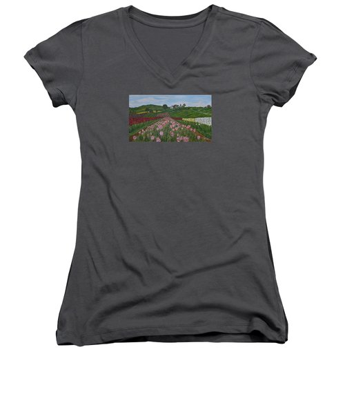 Walking In Paradise Women's V-Neck (Athletic Fit)