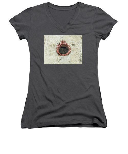Round Window Women's V-Neck T-Shirt (Junior Cut) by Helen Northcott
