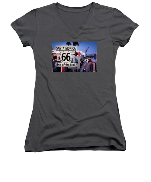 Route 66 End Of Trail Women's V-Neck