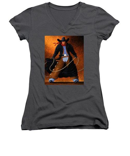 Rowdy Women's V-Neck T-Shirt