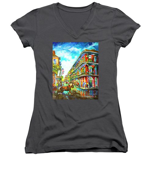 Royal Carriage - New Orleans French Quarter Women's V-Neck