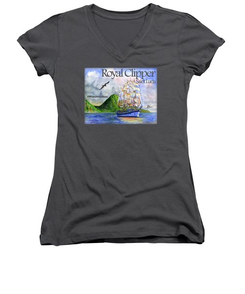 Royal Clipper St Lucia Shirt Women's V-Neck (Athletic Fit)