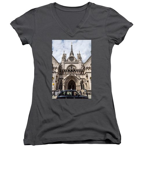 Royal Courts Of Justice In London Women's V-Neck
