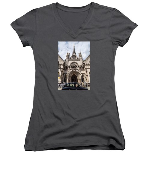 Royal Courts Of Justice In London Women's V-Neck (Athletic Fit)