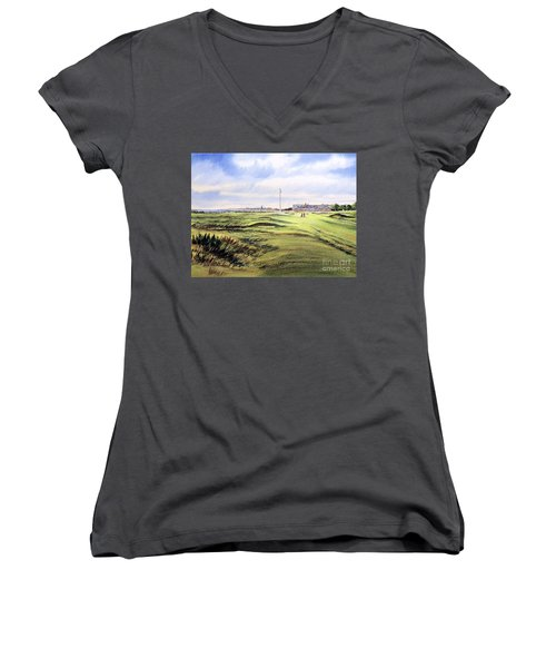 Royal Troon Golf Course Women's V-Neck (Athletic Fit)