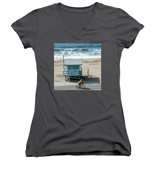Women's V-Neck featuring the photograph Ruby by Eric Lake