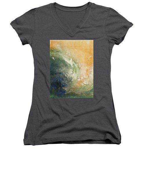 Rugged Coast Aerial View Women's V-Neck