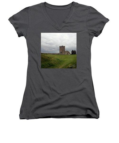 Ruin Women's V-Neck T-Shirt (Junior Cut) by Sebastian Mathews Szewczyk