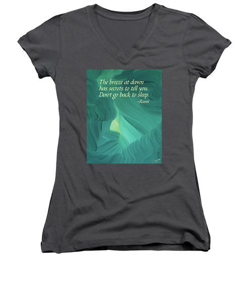 Rumi's Breeze At Dawn Women's V-Neck (Athletic Fit)