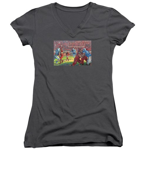 Running Courage Women's V-Neck T-Shirt (Junior Cut)