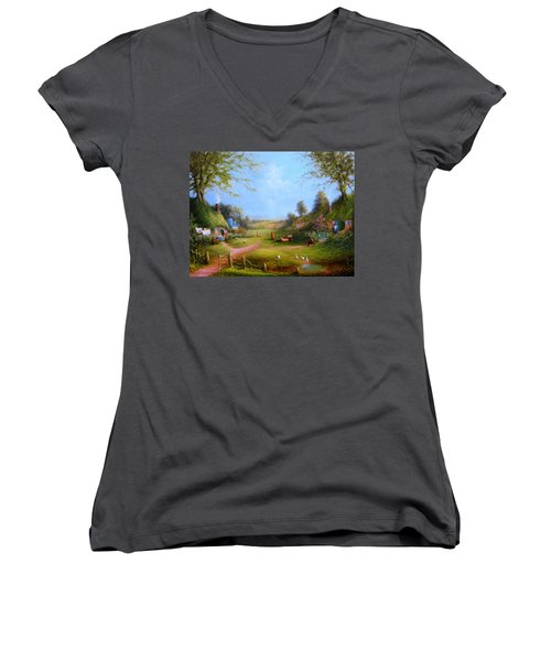 Running Late Women's V-Neck (Athletic Fit)