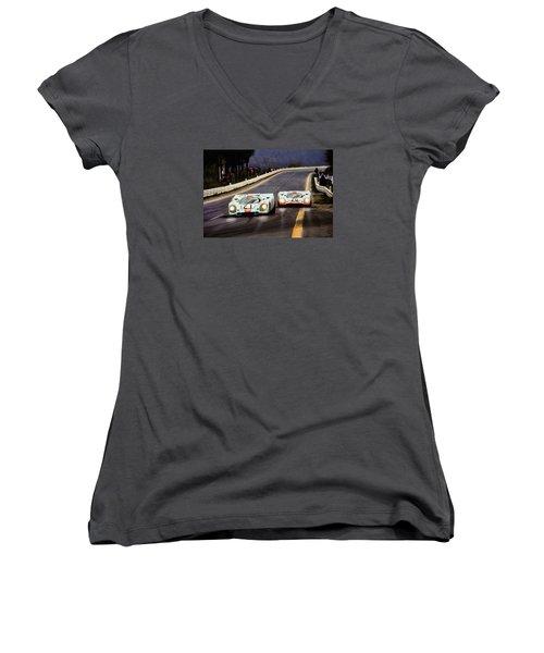 Running One Two Women's V-Neck T-Shirt