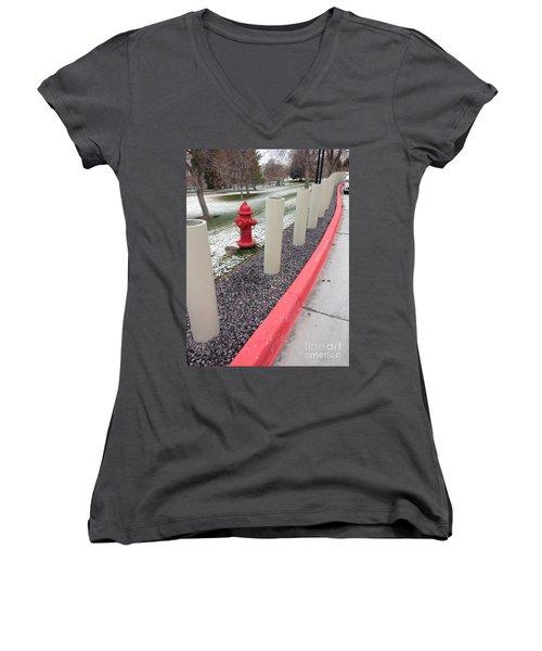 Running The Gauntlet Women's V-Neck T-Shirt